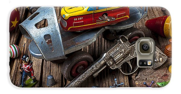 Older Roller Skate And Toys Galaxy S6 Case by Garry Gay