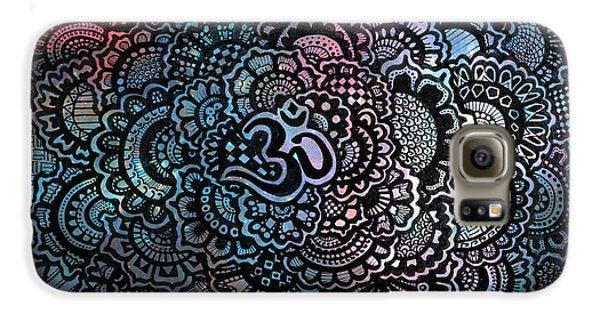Decorative Galaxy S6 Case - Om Sweet Om by Andrea Stephenson