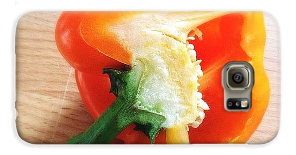 Orange Bell Pepper Galaxy S6 Case
