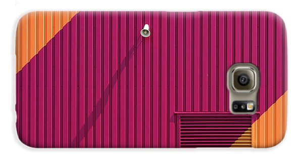 Colours Galaxy S6 Case - Orange Corners by Greetje Van Son