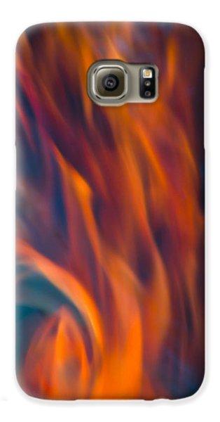 Orange Fire Galaxy S6 Case by Yulia Kazansky