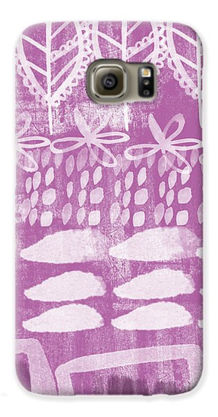 Orchid Galaxy S6 Case - Orchid Fields by Linda Woods
