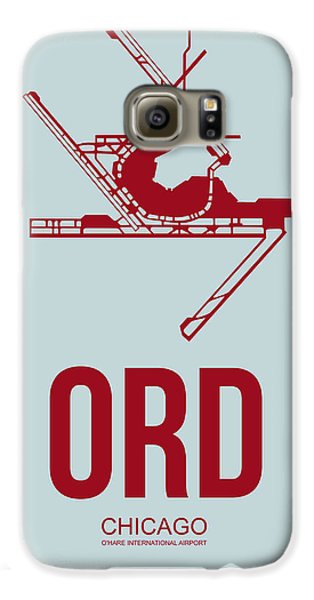 Chicago Galaxy S6 Case - Ord Chicago Airport Poster 3 by Naxart Studio
