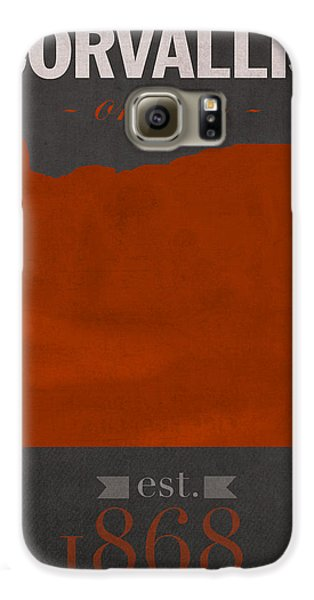 Oregon State University Beavers Corvallis College Town State Map Poster Series No 087 Galaxy S6 Case by Design Turnpike