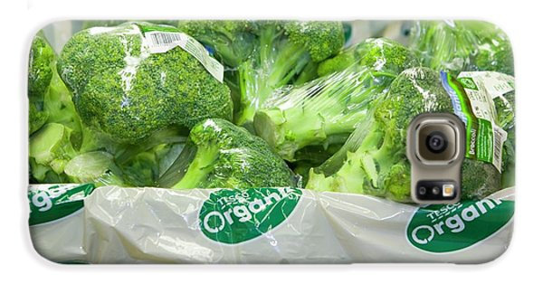 Organic Broccoli For Sale Galaxy S6 Case by Ashley Cooper