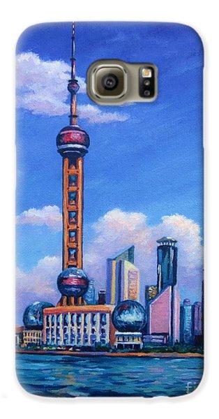 Oriental Pearl Shanghai Galaxy S6 Case by John Clark