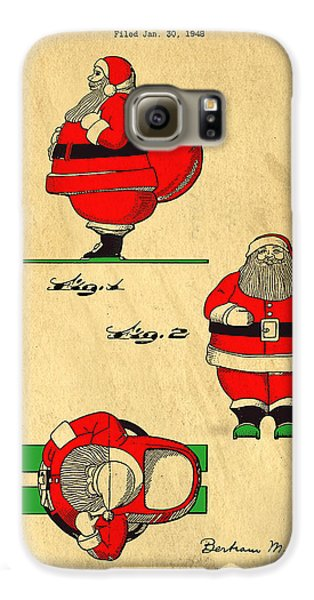 Original Patent For Santa On Skis Figure Galaxy S6 Case