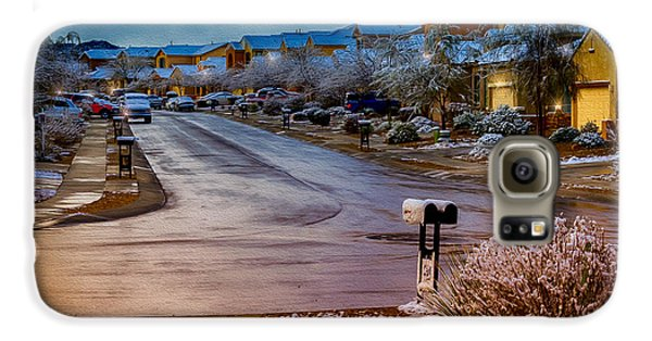 Oro Valley Winter No.54 Galaxy S6 Case by Mark Myhaver