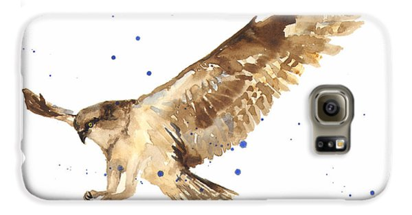 Osprey Painting Galaxy S6 Case by Alison Fennell