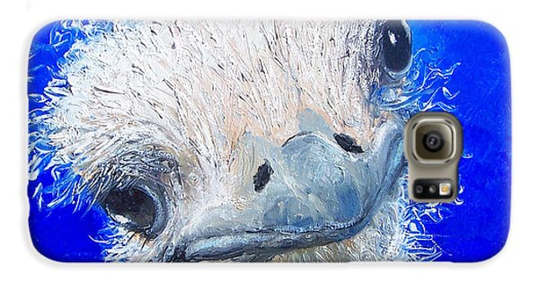 Ostrich Painting 'waldo' By Jan Matson Galaxy S6 Case by Jan Matson