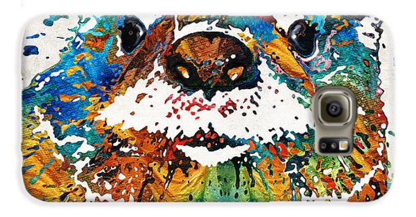 Otter Art - Ottertude - By Sharon Cummings Galaxy S6 Case by Sharon Cummings