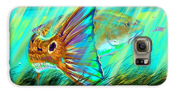 Largemouth Bass Galaxy S6 Case - Over The Grass  by Yusniel Santos