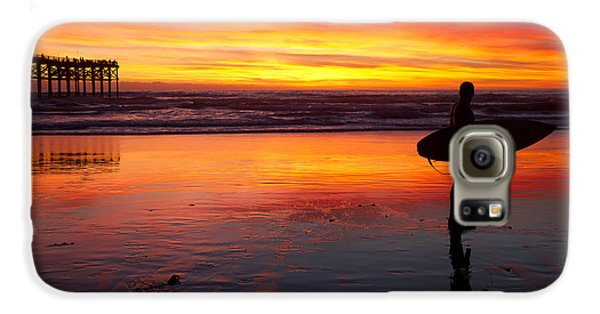 Pacific Beach Was On Fire Tonight Galaxy S6 Case by Nathan Rupert
