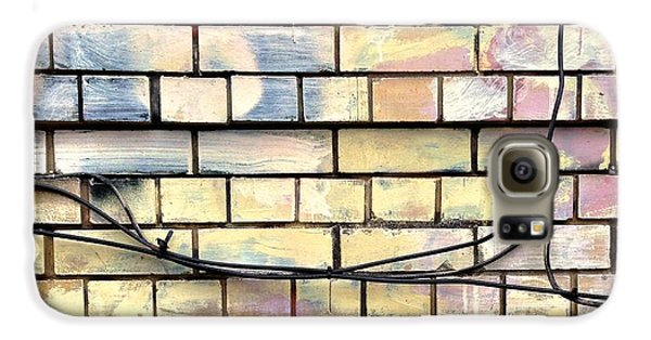 Colorful Galaxy S6 Case - Painted Brick by Julie Gebhardt