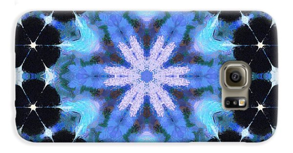 Painted Cymatics 108.00hz Galaxy S6 Case by Derek Gedney