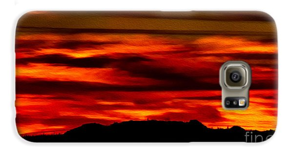 Galaxy S6 Case featuring the photograph Painted Sky 34 by Mark Myhaver