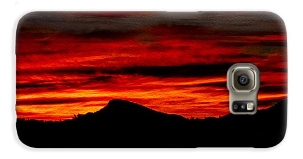 Galaxy S6 Case featuring the photograph Painted Sky 45 by Mark Myhaver