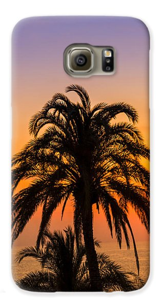 Palm Tree Sunset Vertical Galaxy S6 Case