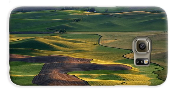 Palouse Shadows Galaxy S6 Case by Mike  Dawson