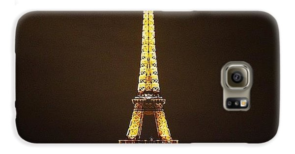 #paris #france #night #lights Galaxy S6 Case