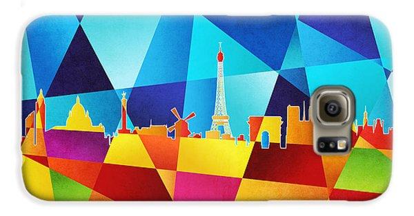 Eiffel Tower Galaxy S6 Case - Paris France Skyline by Michael Tompsett