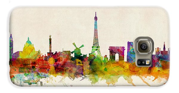 Paris France Skyline Panoramic Galaxy S6 Case by Michael Tompsett