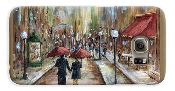 Eiffel Tower Galaxy S6 Case - Paris Lovers Ill by Marilyn Dunlap