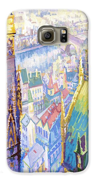Paris Shadow Notre Dame De Paris Galaxy S6 Case by Yuriy  Shevchuk