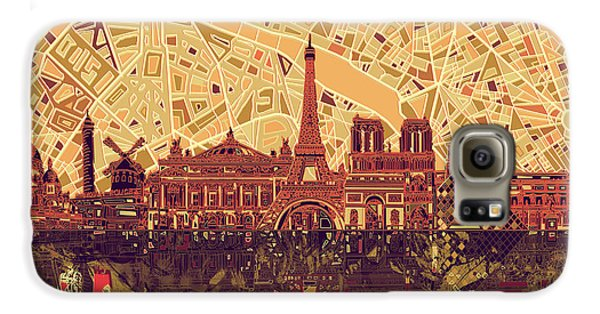 Paris Skyline Abstract Sepia Galaxy S6 Case