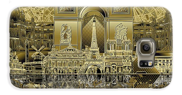 Paris Skyline Landmarks 4 Galaxy S6 Case