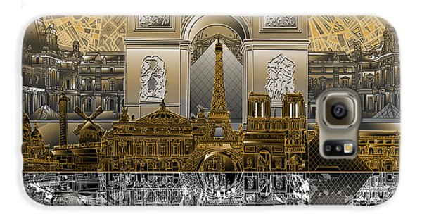 Paris Skyline Landmarks 5 Galaxy S6 Case