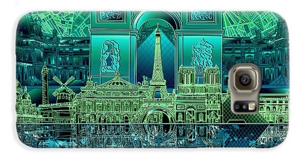 Paris Skyline Landmarks 6 Galaxy S6 Case
