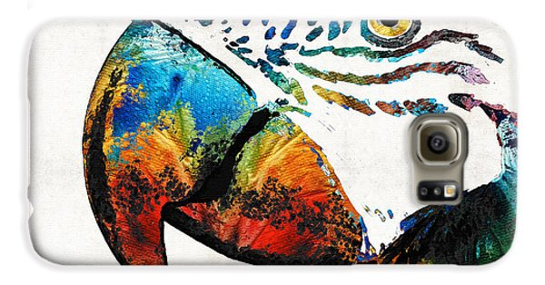 Parrot Head Art By Sharon Cummings Galaxy S6 Case by Sharon Cummings