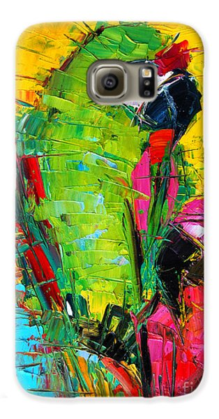 Parrot Lovers Galaxy S6 Case by Mona Edulesco