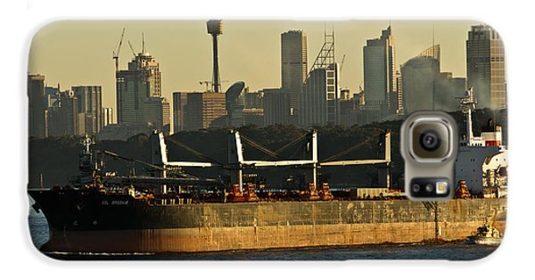 Galaxy S6 Case featuring the photograph Passing Sydney In The Sunset by Miroslava Jurcik