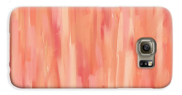 Passionate Peach Galaxy S6 Case by Lourry Legarde