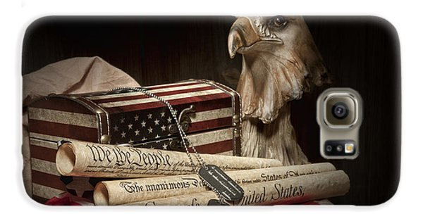 Eagle Galaxy S6 Case - Patriotism by Tom Mc Nemar