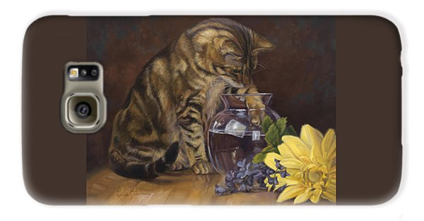 Daisy Galaxy S6 Case - Paw In The Vase by Lucie Bilodeau