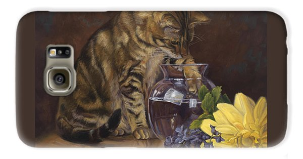 Paw In The Vase Galaxy S6 Case by Lucie Bilodeau