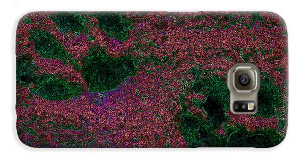 Paw Prints In Red And Green Galaxy S6 Case