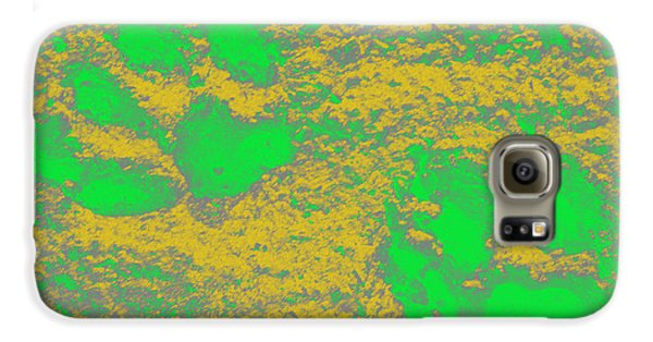 Paw Prints In Yellow And Lime Galaxy S6 Case