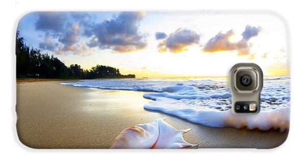Beach Galaxy S6 Case - Peaches N' Cream by Sean Davey