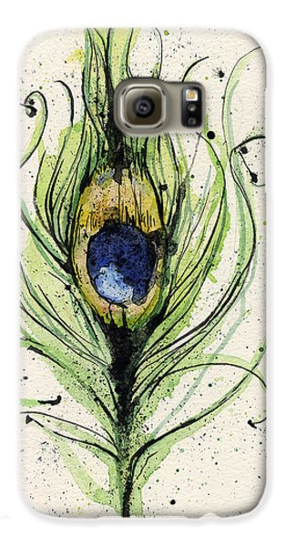 Peacock Feather Galaxy S6 Case by Mark M  Mellon