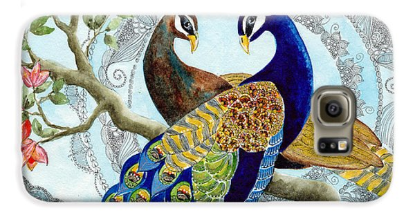 Peacock Love Galaxy S6 Case by Susy Soulies