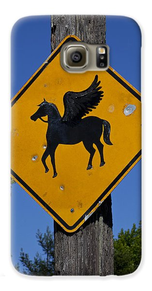 Pegasus Galaxy S6 Case - Pegasus Road Sign by Garry Gay