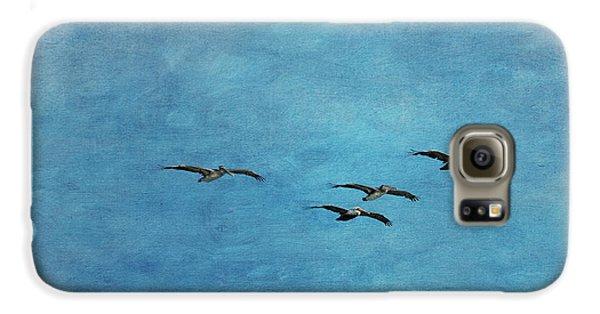 Pelicans In Flight Galaxy S6 Case