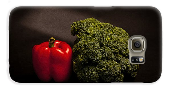 Pepper Nd Brocoli Galaxy S6 Case by Peter Tellone
