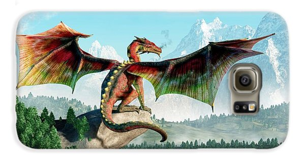 Dungeon Galaxy S6 Case - Perched Dragon by Daniel Eskridge
