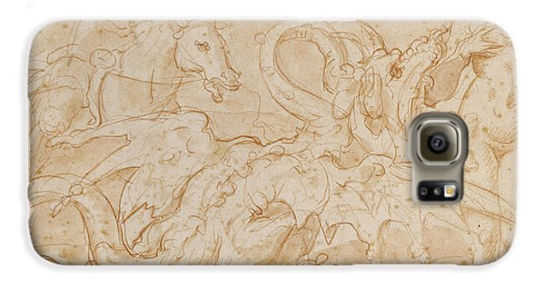 Perseus Rescuing Andromeda Red Chalk On Paper Galaxy S6 Case by or Zuccaro, Federico Zuccari