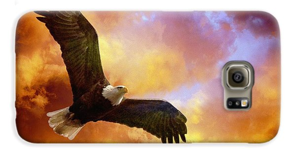 Eagle Galaxy S6 Case - Perseverance by Lois Bryan